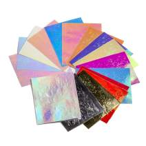 Flame Nail Stickers - 16PCS Holographic Fire Flame Nail Art Decals 3D Vinyls Nail Stencil for Nails Manicure Tape Adhesive Foils DIY Decoration (Multicolor)