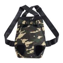 uxcell Pet Dog Carrier Camo Adjustable Front Chest Backpack Pet Cat Puppy Holder Bag for Travel Outdoor Extra Large