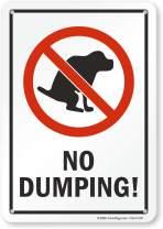 "SmartSign ""No Dumping"" Dog Poop Sign   7"" x 10"" Plastic"