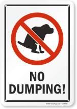 "SmartSign ""No Dumping"" Dog Poop Sign | 7"" x 10"" Plastic"