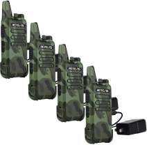 Retevis RT22 Walkie Talkies Rechargeable Voice Activated Scan Emergency Alarm Outdoor Cruise Ship Walkie Talkies Two Way Radio(4 Pack)