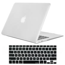 ProCase MacBook Air 13 Inch Case A1369 A1466 (Old Model), Rubber Coated Hard Shell Case with Keyboard Skin Cover for MacBook Air 13 inch Model A1369 & A1466 2010-2017 Released -Frost Clear