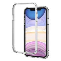 ELECOM-Japan Brand- Hybrid Bumper Case/Compatible with iPhone 11 / Full Protection/Slim/Clear PM-A19CHVBCR