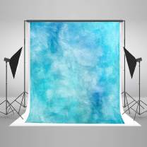 Kate 8×8ft Watercolor Abstract Photography Backdrop Blue Portrait Photo Background Cotton Cloth Photo Studio Booth Free Wrinkles Props