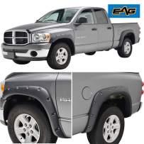 EAG Fender Flares Rivet Style Bolt on Pocket Fit for 02-08 Dodge Ram 1500/03-09 Dodge Ram 2500/3500 HD