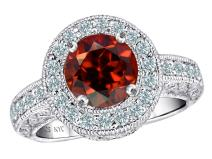 Star K 7mm Round, Vintage Antique Design Ring