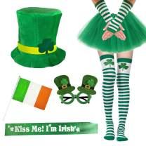 Garma 7 Pack St. Patrick's Day Costume Set Women Irish Day Saint Patrick's Day Celebration Outfit Attire Accessories