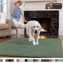 GORILLA GRIP Original Faux-Chinchilla Area Rug, 2x8 Feet, Super Soft and Cozy High Pile Washable Carpet, Modern Rugs for Floor, Luxury Shag Carpets for Home, Nursery, Bed and Living Room, Sage