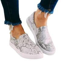 Nailyhome Womens Slip On Platform Sneakers Perforated Loafers Low Top Walking Shoes