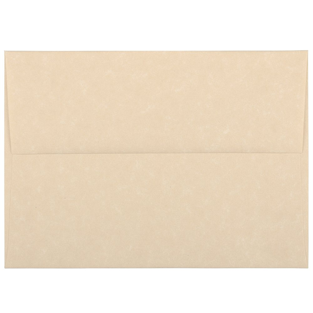 JAM PAPER A6 Parchment Invitation Envelopes - 4 3/4 x 6 1/2 - Brown Recycled - 25/Pack