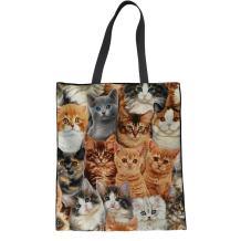 Coloranimal Eco-friendly Big Capacity Linen Tote Bag Kawaii Sloth Handbag