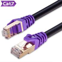 Outdoor Cat 7 Ethernet Cable 30 ft,JewMod 26AWG Heavy-Duty Cat7 Networking Cord Patch Cable RJ45 Network Cable Cord 10Gbps 600MHz LAN Wire Cable STP Waterproof Direct Burial Ethernet Cable