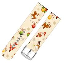 Strap Compatible for Watch Series SE/6/5/4/3/2/1 42mm/44mm Sport - ENDIY Leather Band Replacement for Watch Women Sport Xmas Christmas Theme Design Pattern Christmas Father Snowman Reindeer
