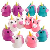 Kicko Squirt Unicorn - 2.5 Inch Bath Buddy - Soft Rubber Squirt Toy - 12 Pack - Underwater Toy Accessories - Party Favor, Fun Toys for Kids Boys and Girls