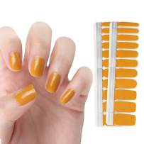 HIGH'S NEW DESIGN EXTRE ADHESION Nail Wraps Decals Art Transfer Sticker Collection Manicure DIY Fullnail Polish patch Strips for Wedding, Party, Shopping, Travelling, 20pcs(Ginger)