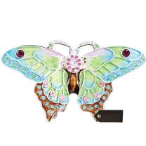 Matashi Elegant Floral and Butterfly Display Design Home Decorative Hanging Jewelry Stand (Trinket Box Blue)