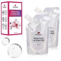 Lip Gloss Base,Clear Versagel Base for DIY Lip Gloss, Moisturizing, Non-Sticky, Vegan, Organic( 100ml2 pack), lip gloss supplies