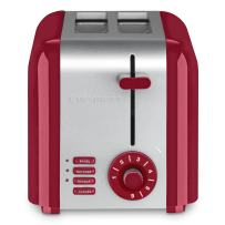 Cuisinart CPT-320R 2-Slice Compact Toaster, Stainless Steel/Red