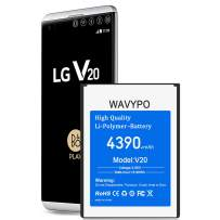 (Upgraded) Wavypo LG V20 Battery, 4390mAh Replacement Battery Li-Polymer for LG V20 BL-44E1F H910 H918 VS995 LS997 US996, V20 Spare Battery [12 Months Warranty]