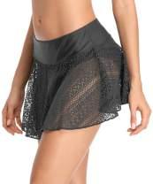 beautyin Women's Solid Swim Skirt Build-in Brief Tummy Control Tankini Bottoms