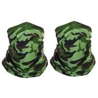 BeFirst 2pcs UV Protection Face Cover Neck Gaiter Men Headband Bandana for Cycling Hiking Fishing Sport Outdoor