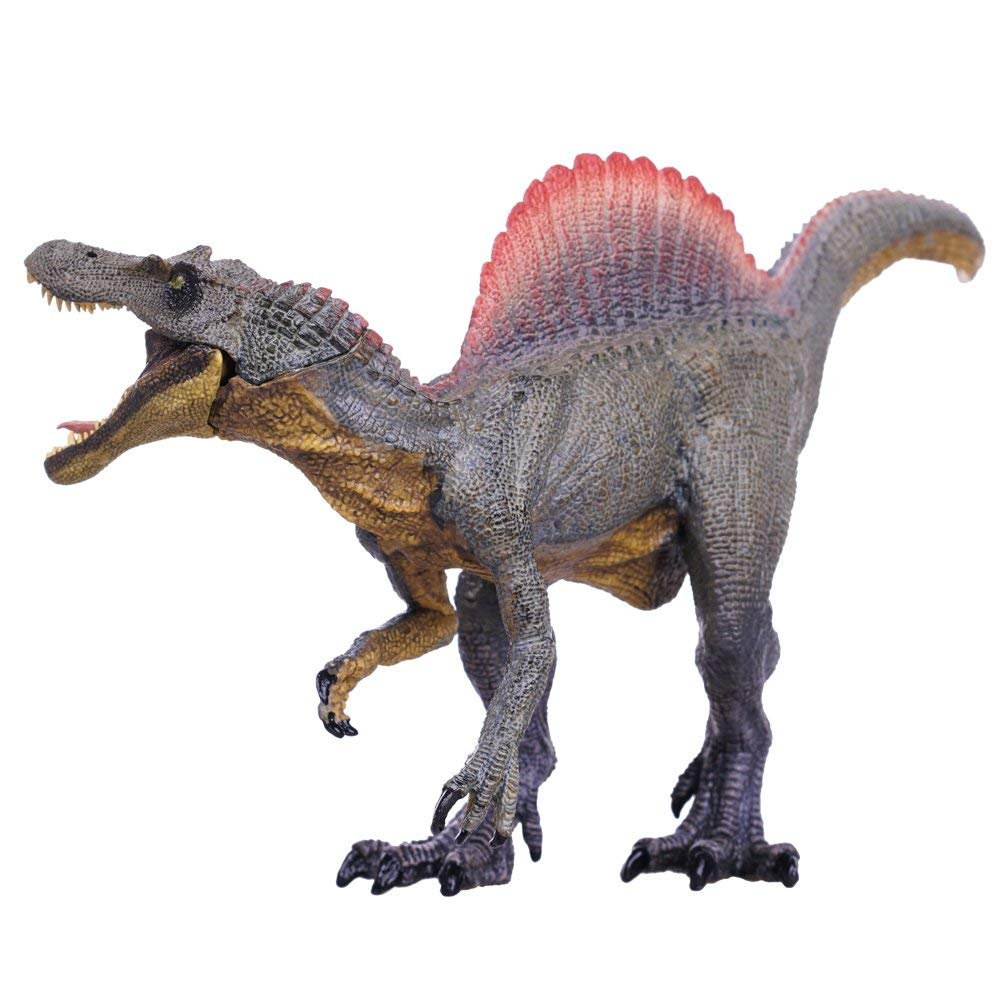 Gemini&Genius Spinosaurus Action Figures Jurassic World Park Dinosaurs Model Early Science Education and Collectible Toys for The Dino Lovers and The Coolest Gift for The Boys. (M-Brown )