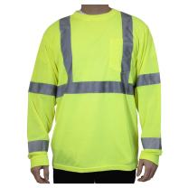 Rugged Blue RB-3HVLT-Yellow-S Class 3 Long Sleeve Hive's Wicking Shirt, Polyester, Yellow, Small