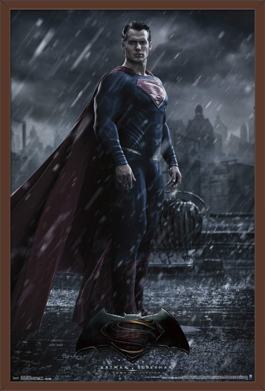 "Trends International DC Comics Movie-Batman v Superman, 22.375"" x 34"", Mahogany Framed Version"