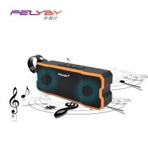 Portable Wireless Bluetooth Speaker Elegant Stereo Speakers with HD Sound Audio and Enhanced Bass (Orange)