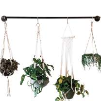 DIY CARTEL Industrial Pipe Towel Rack Hardware Only - Perfect for: Curtain Rod, Hanging Plants, Storage Bar, Coat Rack & Industrial Furniture/Farmhouse Decor (48 - Inch)