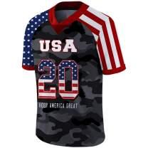Custom Donald Trump #45 President 2020 Football Jersey Amercia Retro Shirts Design for Men