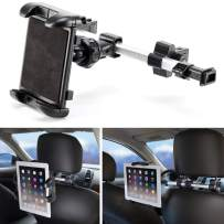 iKross Universal Car Tablet Mount Holder Backseat Headrest Extendable Mount for Apple iPad, iPhone, Tablet, Smartphone, Nintendo Switch with Dual Adjustable Positions