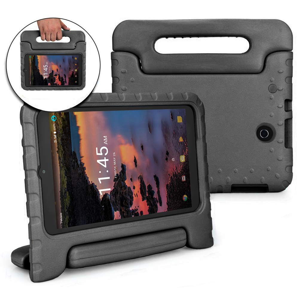 Bolete Alcatel Joy Tab 8 / Alcatel 3T / A30 Tablet 8-inch Case - Lightweight Protective Handle Stand Kids Cover Compatible with Alcatel 3T 2018 Model 9027W / Alcatel A30 Model 9024W Tablet, Black
