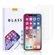 """JESOHO HD Clear Screen Protector for iPhone Xs Max/iPhone 11 Pro Max 6.5"""", 2.5D Rounded Rdge, High-Definition, 9H Hardness, Scratch-Resistant, Anti-Fingerprint, Bubbles-Free Tempered Glass [3 Pack]"""