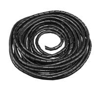 10mm Dia Spiral Wire Wrap Cable Tube Polyethylene Organizer PC Manage for Computer Car Wire Cover Sleeve, 7M Length