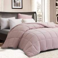 YOUR MOON Twin Comforter All Season Quilted Down Filling Soft Down Alternative Comforter Duvet Insert or Stand-Alone Comforter