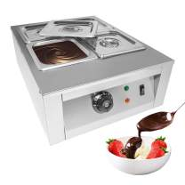 GorillaRock Professional Chocolate Melting Pot   Tempering Machine   Home Or Bakery Use   Stainless Steel   Manual Control   110V   1kW (4-tank)