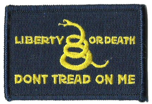 Culpeper Don't Tread On Me Tactical Patch - Blue/Yellow