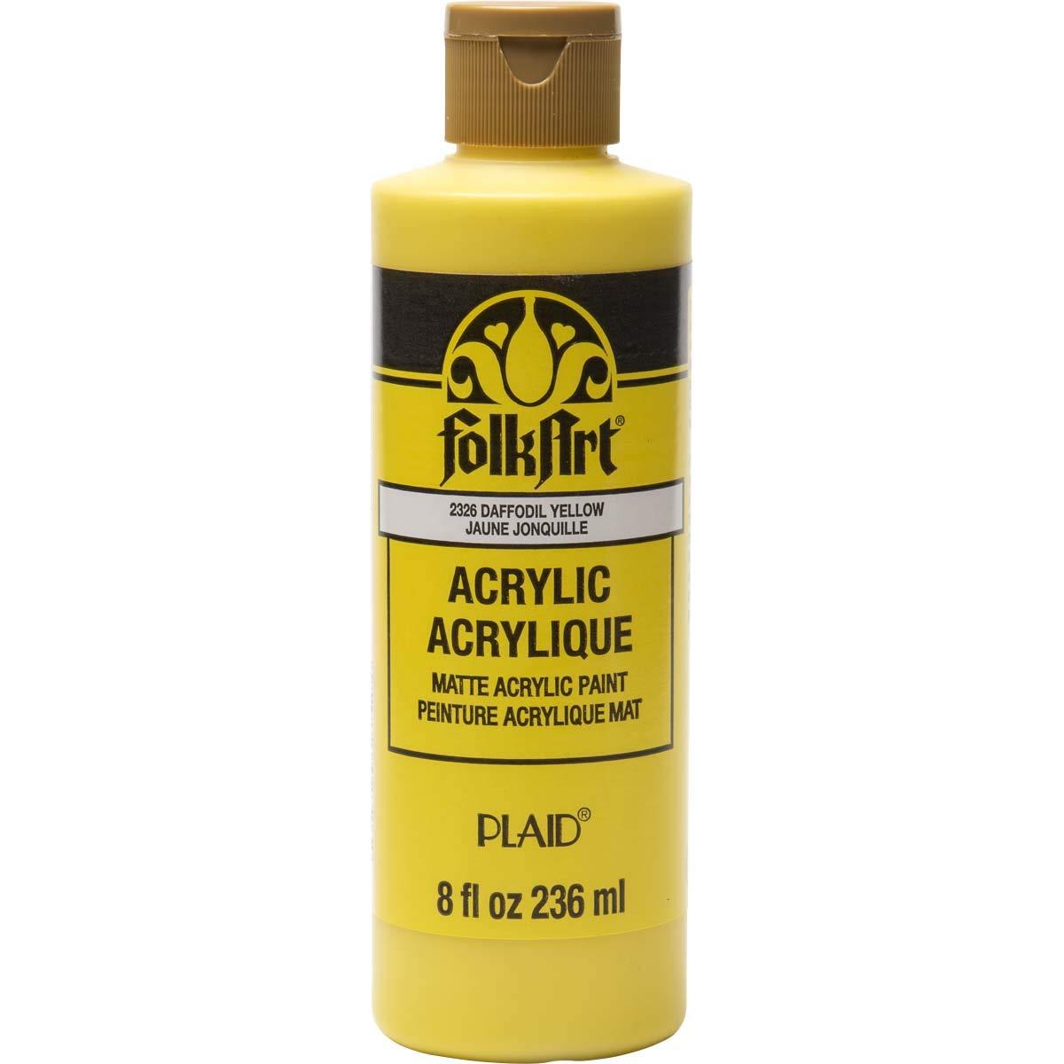 FolkArt 2326 Acrylic Paint, 8oz, Daffodil Yellow