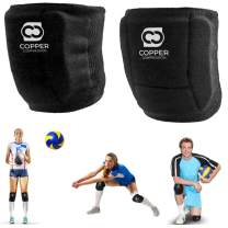 Copper Compression Volleyball Knee Pads. Guaranteed Highest Copper Knee Protector for Women, Men, Girls, Boys. Can also be used for other Sports, Wrestling, MTB, as a Work Support Pad, Kneepads