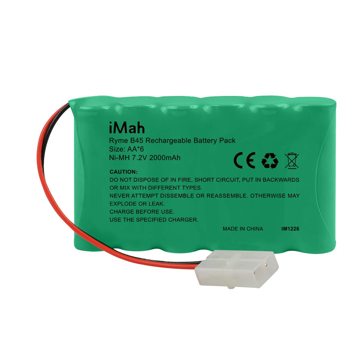 iMah SC6 7.2V Battery Pack 3000mAh Ni-MH Rechargeable with Standard Tamiya Plug for RC car Truck Boat