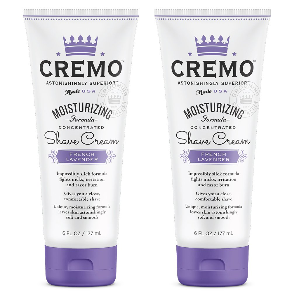 Cremo French Lavender Moisturizing Shave Cream, Astonishingly Superior Shaving Cream For Women, Fights Nicks, Cuts and Razor Burn, 6 Fluid Ounces, 2-Pack