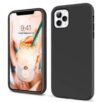YINLAI iPhone 11 Pro Case Liquid Silicone Slim Fit Soft Rubber Cover Non Slip Grip Shockproof Protective Hybrid Hard Back Bumper Durable Man Phone Covers for iPhone 11 Pro 5.8 inch, Black