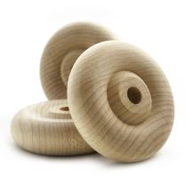 """2-1/2"""" x 3/4"""" w/ 3/8"""" Hole, Wooden Toy Wheel - Bag of 100"""
