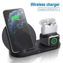 Wireless Charger for Air Pods Pro, Coobetter 3 in 1 Wireless Charging Station,Wireless Charging Stand Watch Charger Compatible with iPhone 11/11 pro /11 Pro Max/Xs/XS Max/XR/X / 8 /8P (Black)