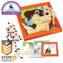 Brick Mates – Stack By Numbers – Puppy – Construction Engineering Stem Learning Toy Building Play Set Puzzle For Kids  6, 7, 8, 9