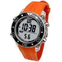 Digital Multifunction Sports Wrist Watch - Waterproof Smart Fit Classic Men Women Water Sport Swimming Fitness Gear Tracker W/ Chronograph, Countdown, Dual Time, Diving Mode - Pyle PSNKW30O (Orange)