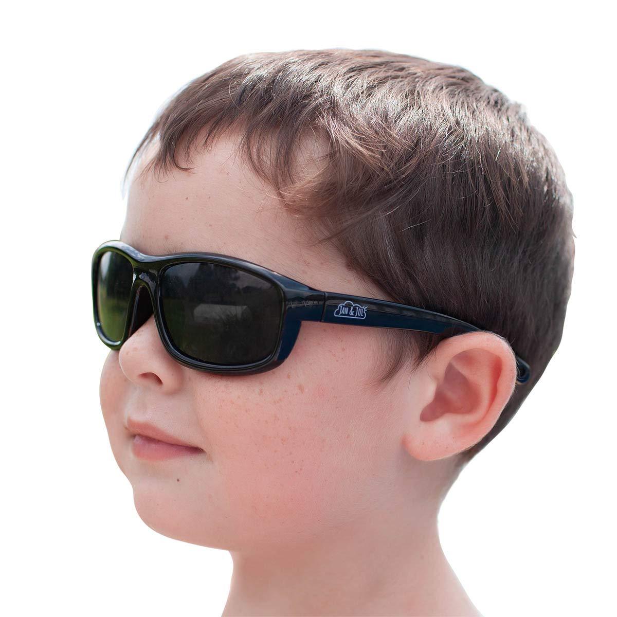 JAN & JUL Baby Toddler Kids' Flexible UV-400 Polarized Sun-glasses with Strap for Girls Boys