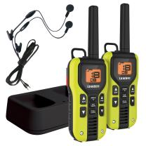 Uniden GMR4060-2CKHS Two Way Radio with LiIon Charger and Headsets, Green