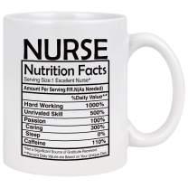 Nurse Gifts for Women for Men Nurse Coffee Mug Nurse Week Gifts Nurse Birthday Gifts for Women Nurse Graduation Gift Nurse Nutrition Facts Mug Nurse Coffee Cup White 11 Ounce